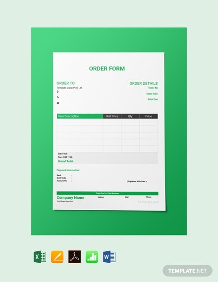 order form google sheets  6+ Form Templates in Google Sheets | Free & Premium Templates