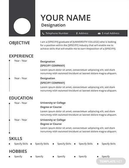 blank resume template 1x