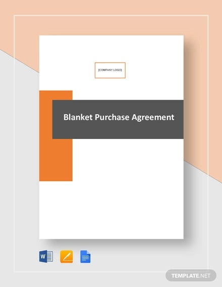 blanket purchase agreement template