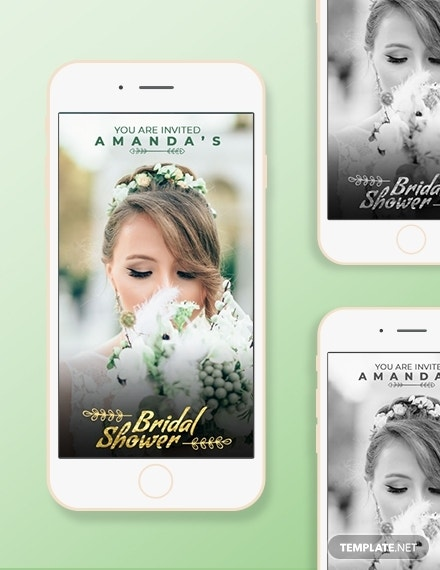 bridal shower snapchat geofilters template psd