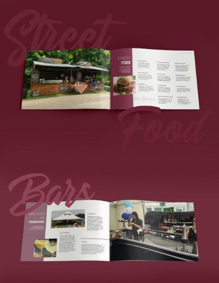 british catering services brochure design
