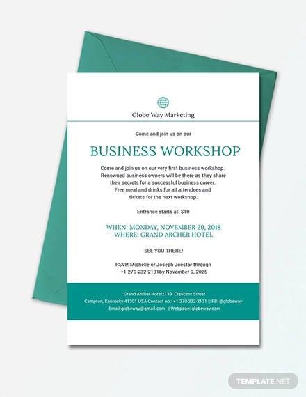business invitation template