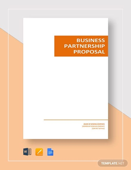 10+ Partnership Proposal Templates - Word, PDF, Apple Pages