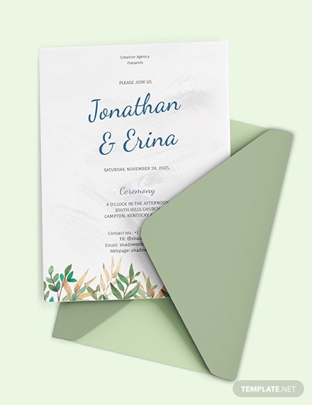 calligraphy wedding invitation card layout