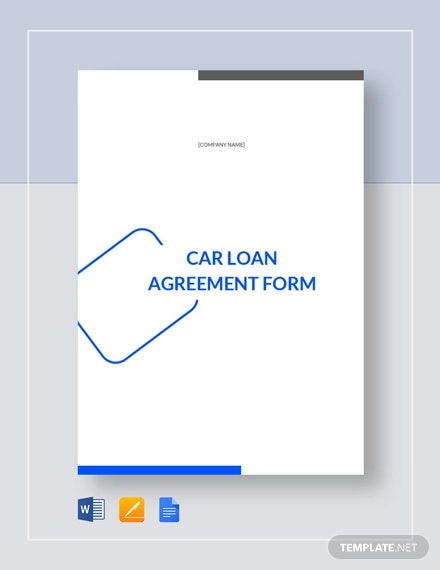 car loan agreement form template1