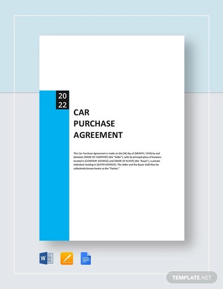 car purchase agreement template