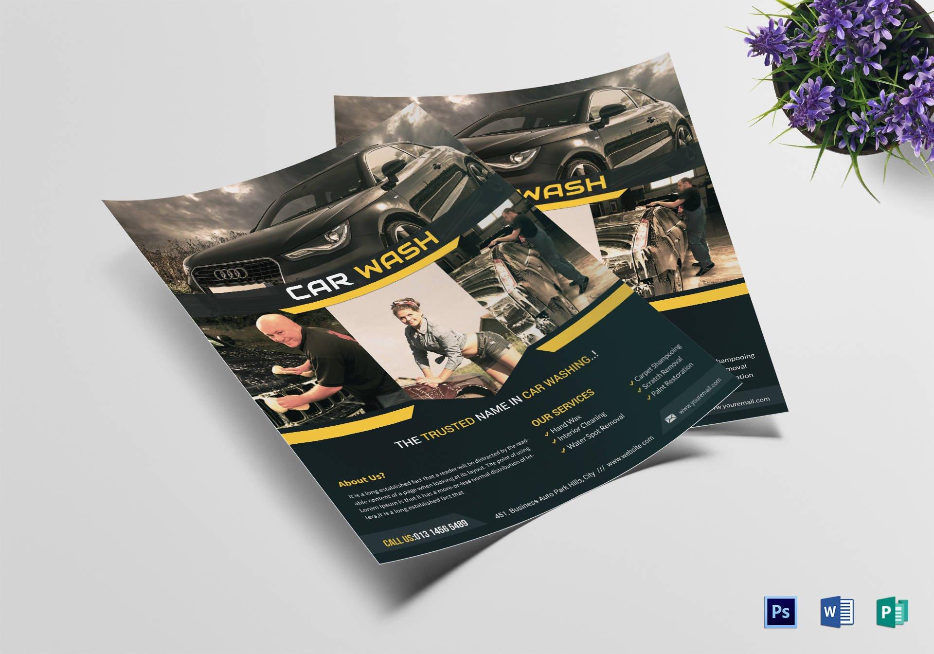 car wash agency flyer