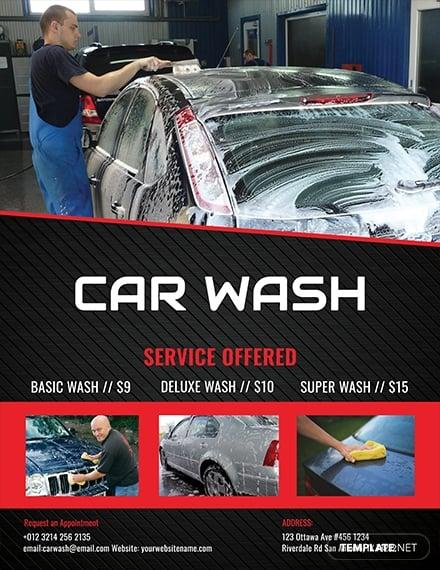 car wash flyer template 1x