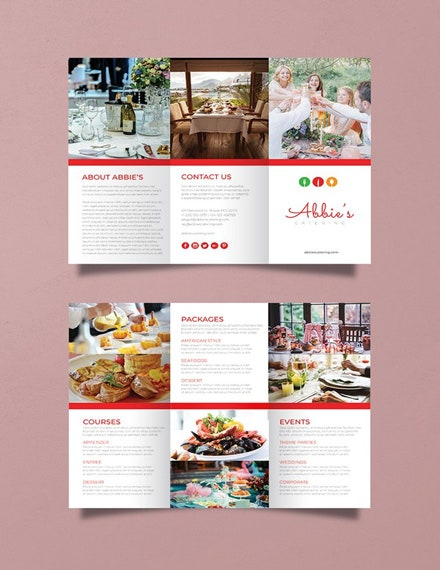 catering brochure psd template