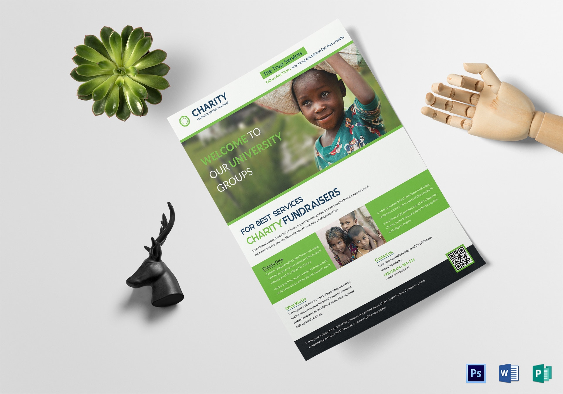 charity fundraisers flyer template mocaups 2