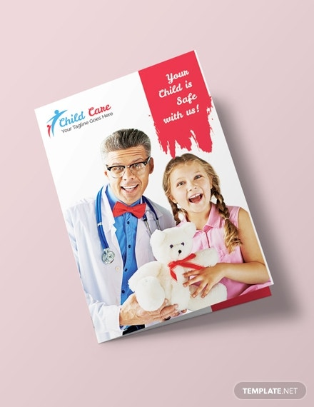 child care bifold brochure template