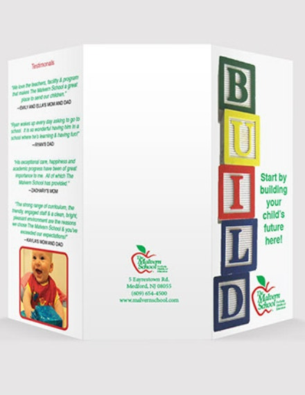 Child Care Center Brochure Design