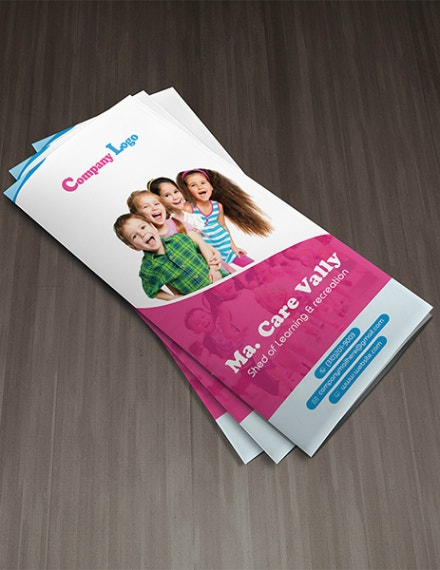 Child Care Learning Brochure Format
