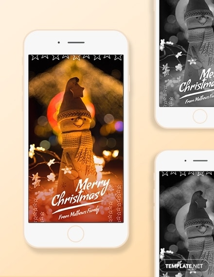 christmas snapchat geofilters template