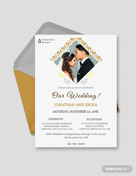 classic photo wedding invitation example