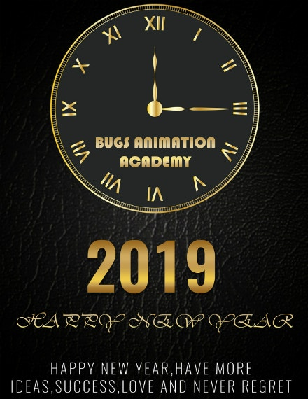 clock new year poster layout