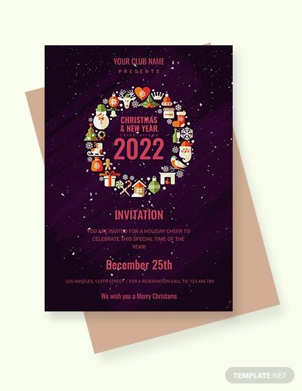 club new year party invitation