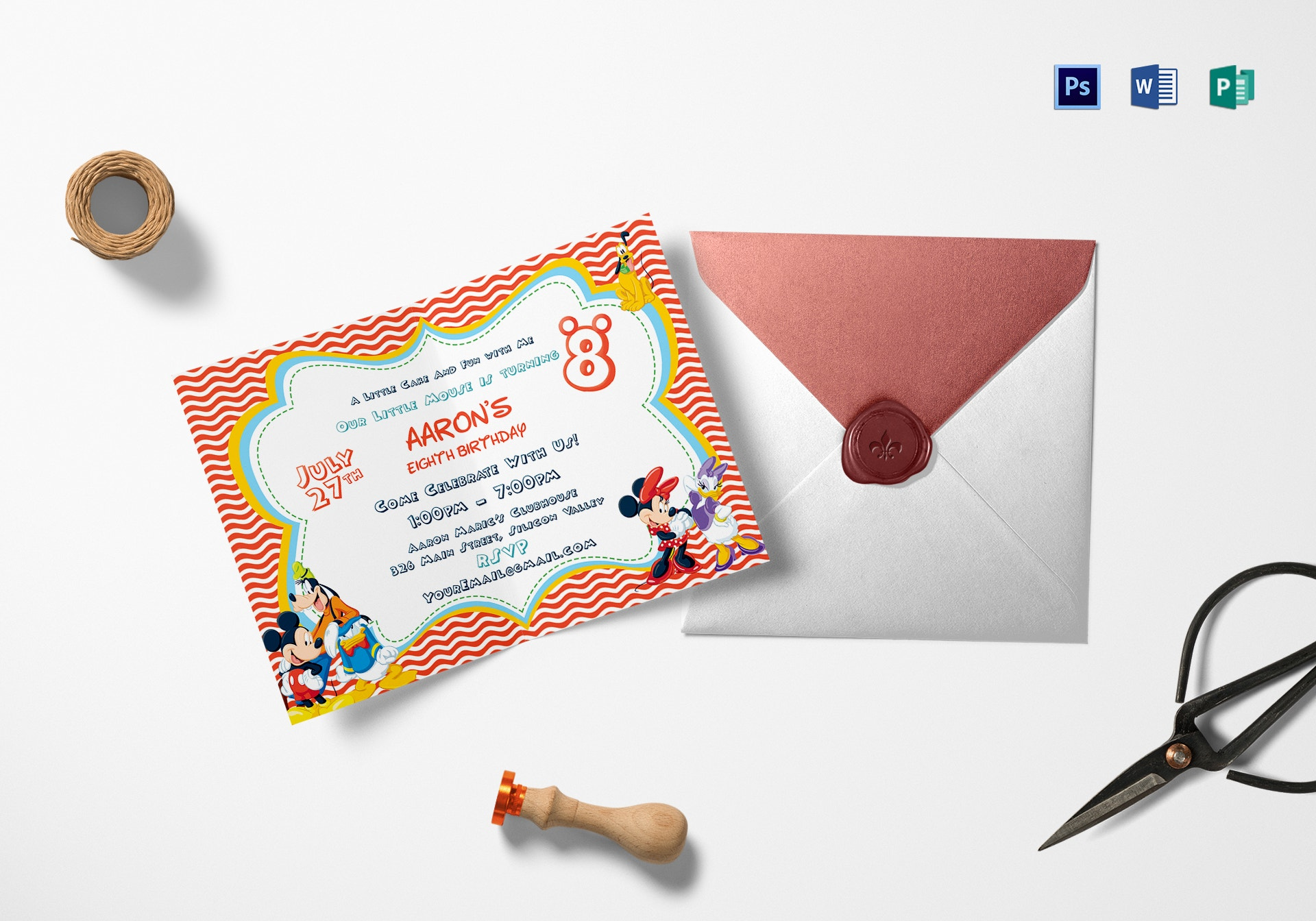 clubhouse carnival invitation card format