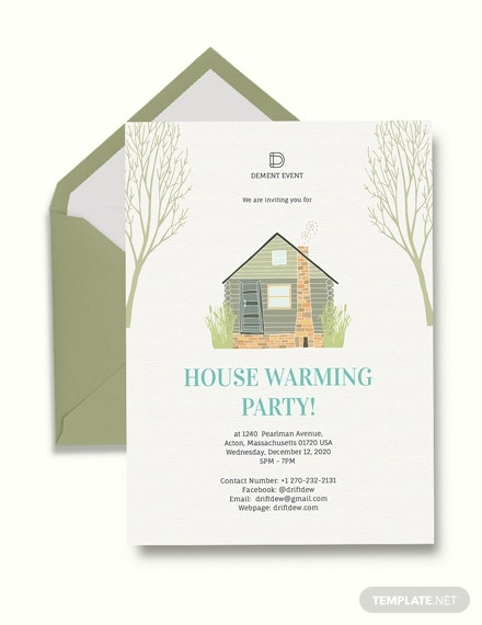 colorful rustic housewarming party invitation