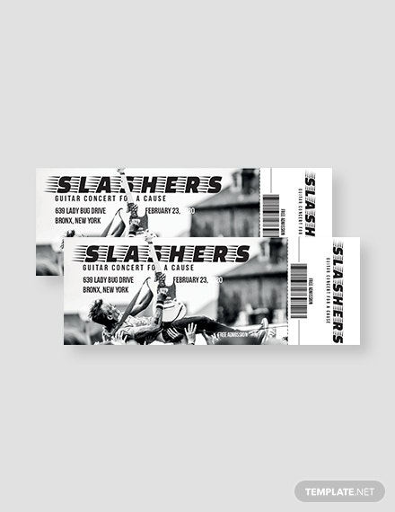 concert admission ticket template