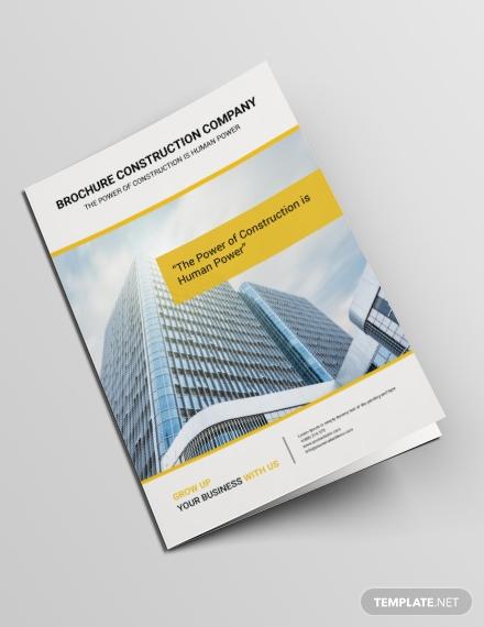 construction power bifold brochure format