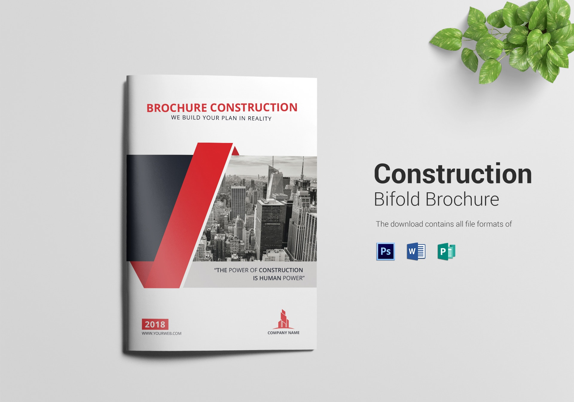 construction power bifold brochure sample