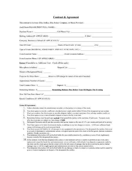 contract agreement for dj services 1