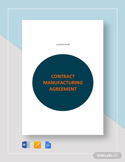 contract manufacturing agreement