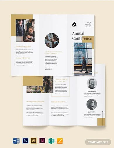 corporate event brochure template