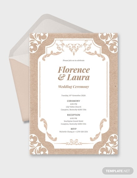 country classic wedding invitation format