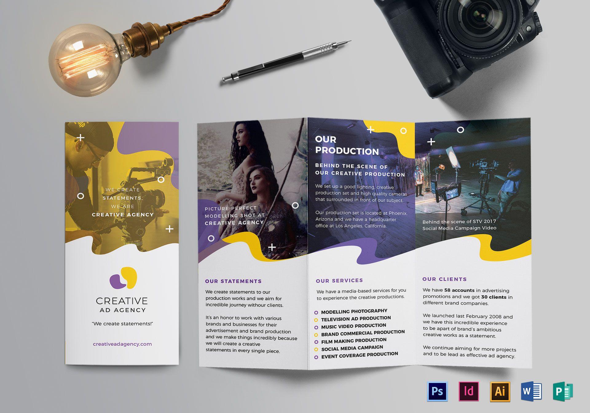 creative agency trifold brochure sample