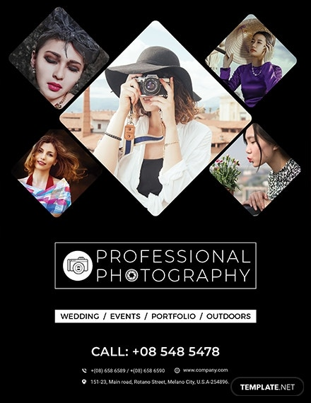 creative photography flyer template 1x