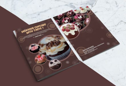 cupcake bakery menu layout