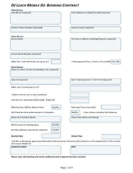 dj booking form 11