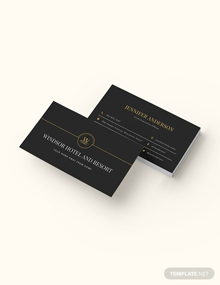 dark minimal business card design