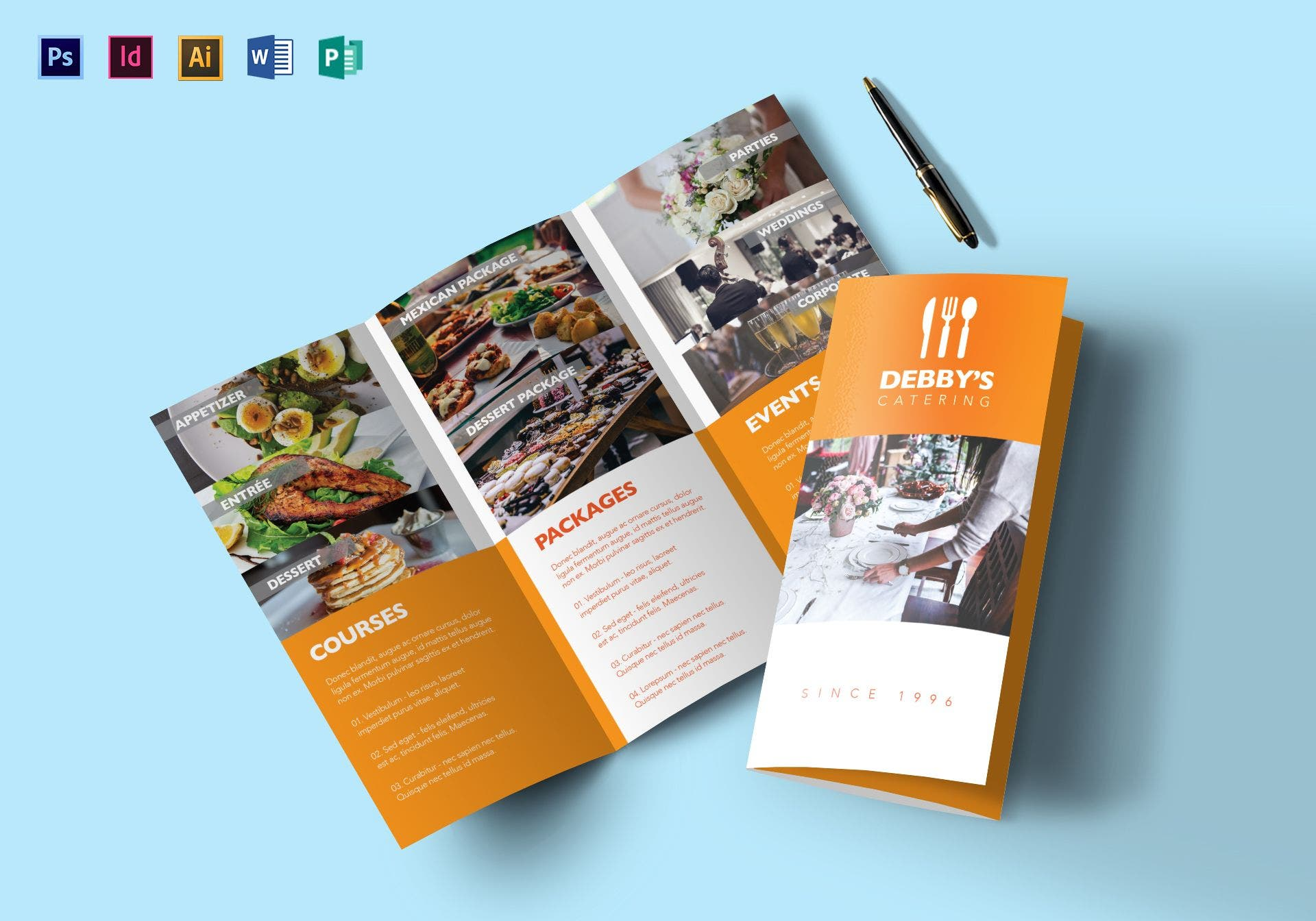 debby catering service brochure template