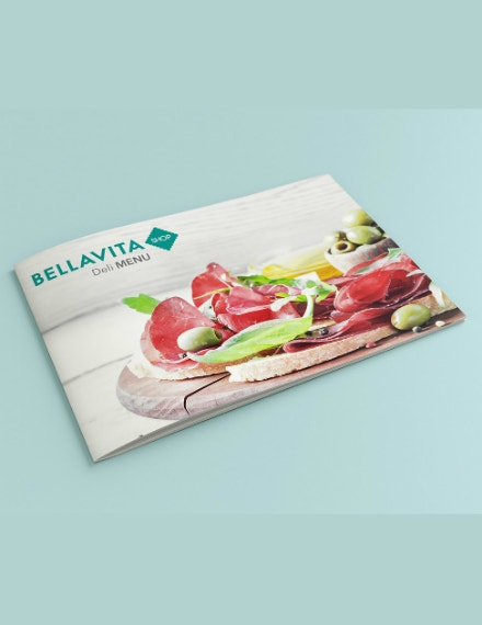 deli food catering brochure sample