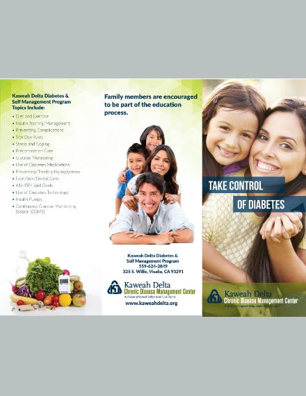 Diabetes Control Brochure Format