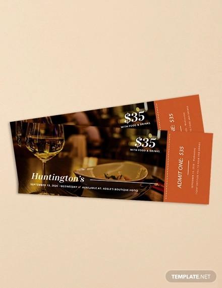 dinner ticket template1