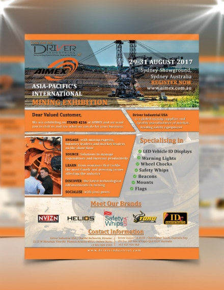 driver industries construction company flyer