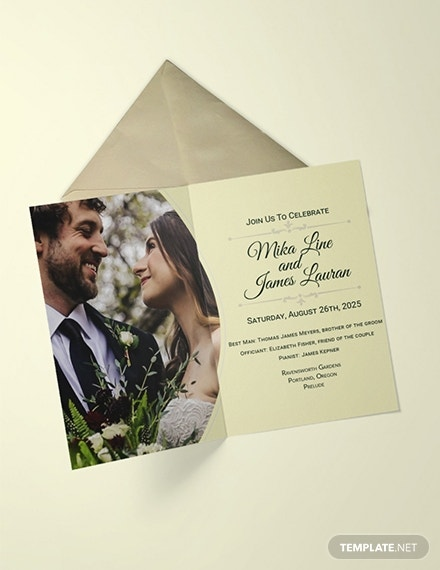 editable classic wedding invitation design