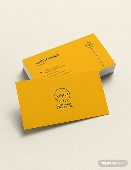 electrician business card template