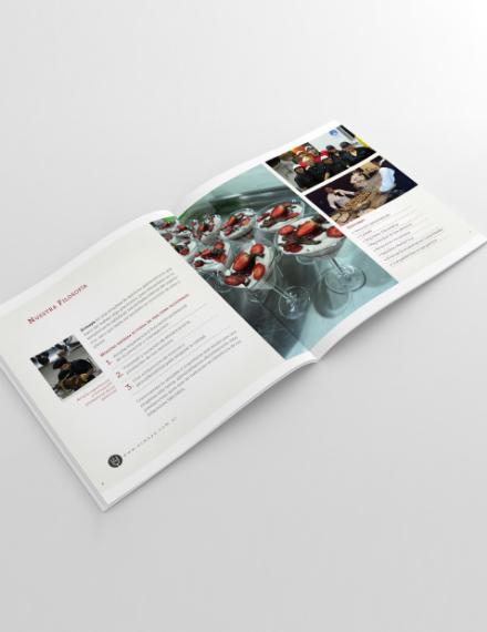 ermaya catering brochure layout