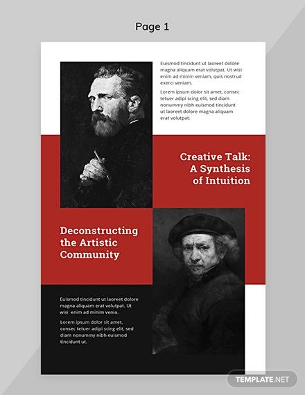 exhibition catalog template