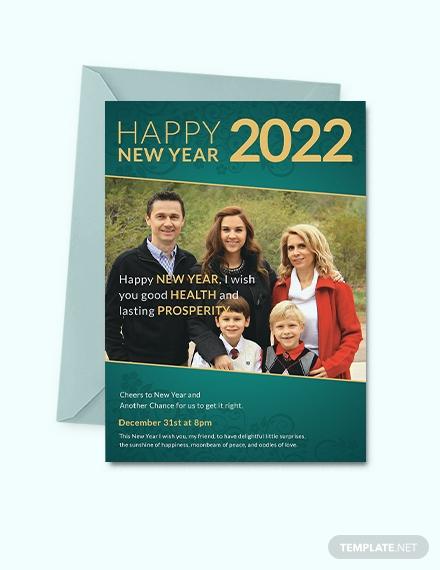 family new year invitation design