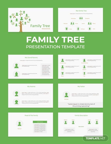family tree powerpoint presentation template
