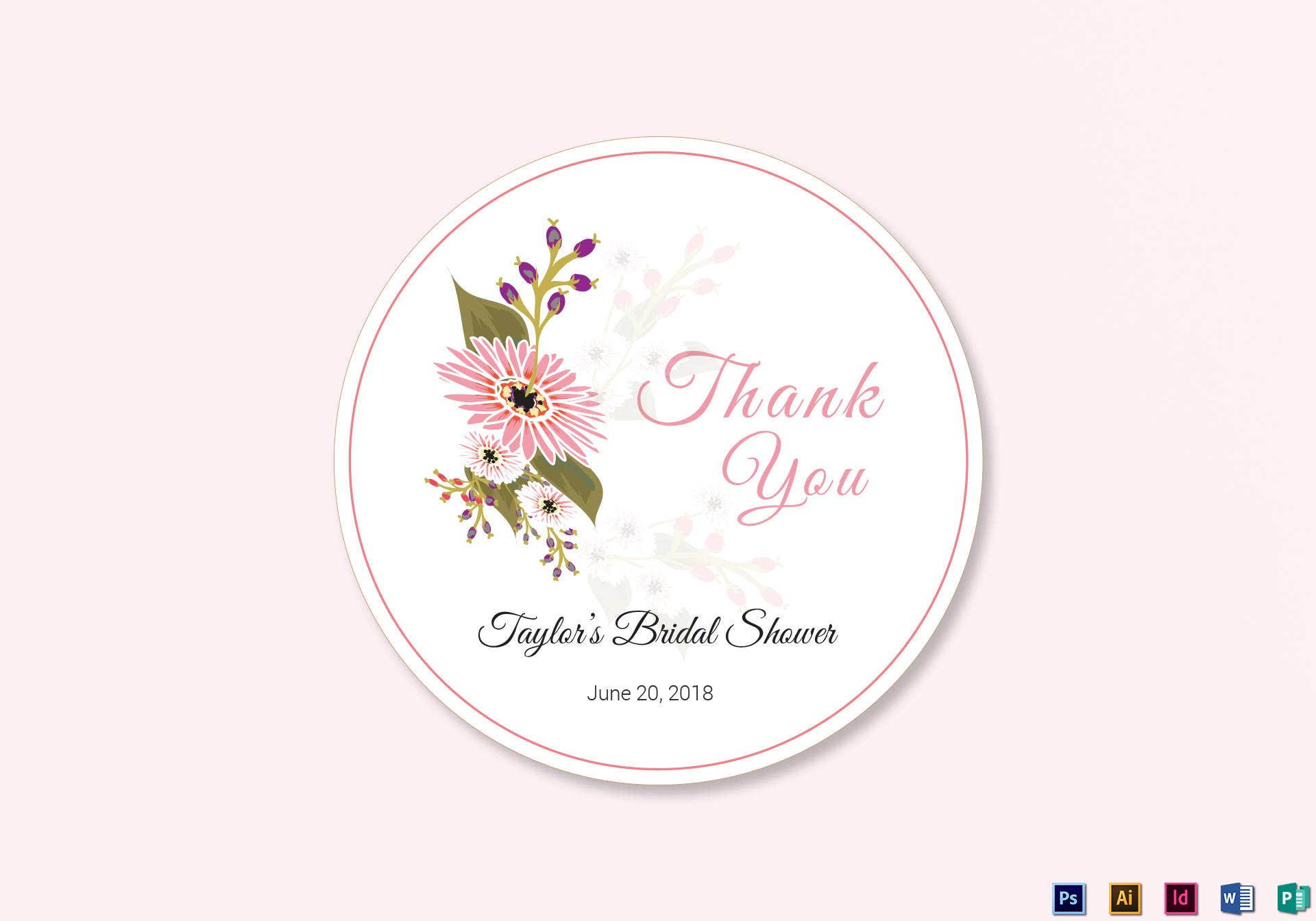 floral wedding label template