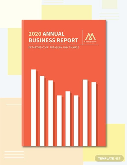 free annual report book cover template 1x