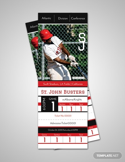 free baseball admission ticket template