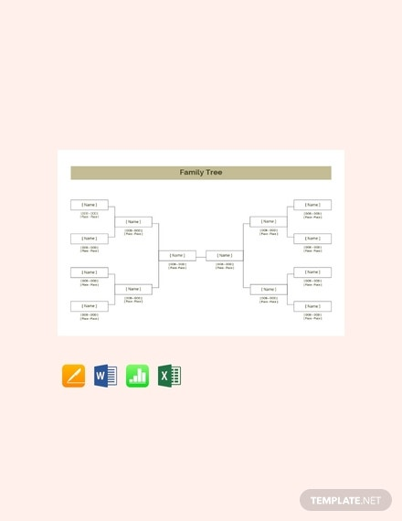 free basic family tree template 440x570 1